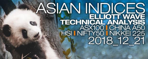 ASX200 XJO China A50 Hang Seng HSI Nifty Nikkei N225 21 December 2018