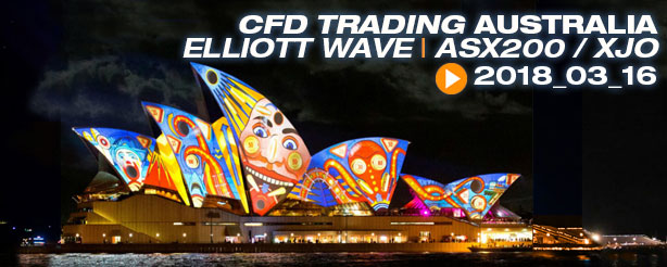 CFD Trading, Australia Elliott Wave, ASX 200, XJO, 16 March 2018