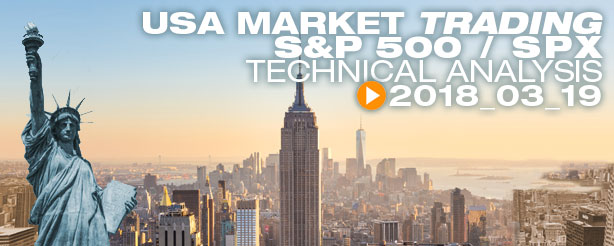 SP500/SPX, Day Trading, 19 March 2018