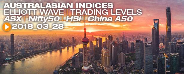 ASX, HSI, China A50, Nifty50, Elliott Wave 28 March 2018