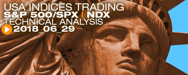 SP500 SPX NASDAQ NDX Elliott Wave Analysis News 29 June 2018