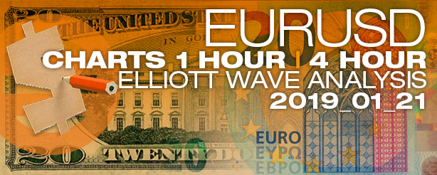 Elliott Wave Forex EURUSD 1 + 4 hr-21 Jan 2019