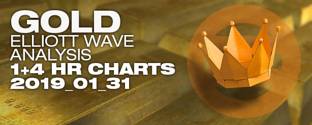 Gold Futures Elliott Wave Options CFDs 31 January 2019