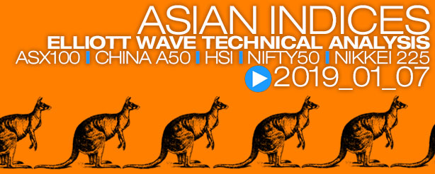 Elliott Wave Nifty ASX200 XJO China A50 Hang Seng HSI 7 January 2019