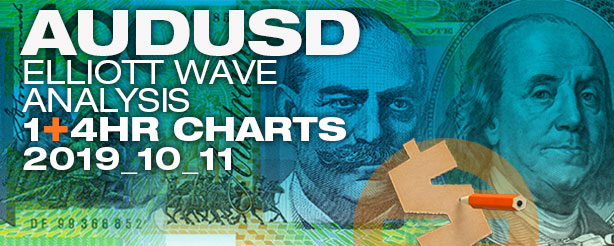 AUDUSD Forex Elliott Wave  1 - 4 hr  11 October 2019