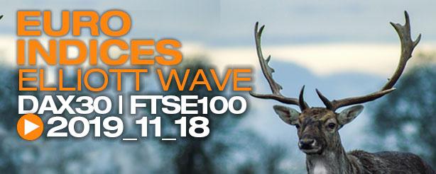 DAX 30 FTSE 100 Technical Analysis Elliott Wave 18 November 2019