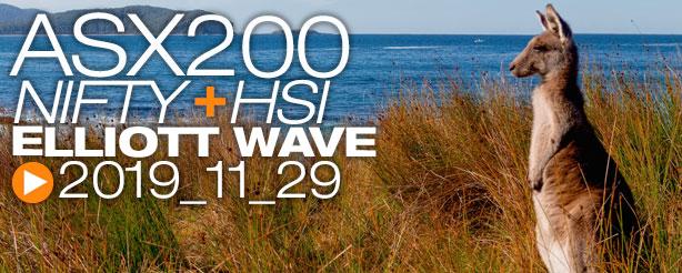NIFTY 50 ASX200 HANG SENG Technical Analysis Elliott Wave 29 November 2019