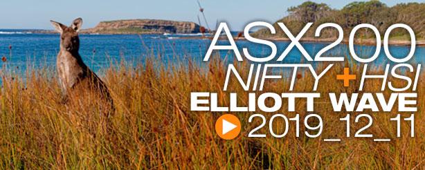 NIFTY ASX200 HANG SENG Technical Analysis Elliott Wave 11 December 2019