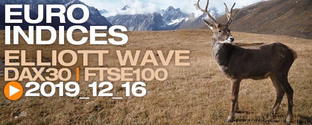 DAX 30 FTSE 100 Technical Analysis Elliott Wave 16 December 2019