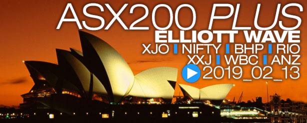 ASX200 XJO Nifty BHP RIO XXJ WBC ANZ Elliott Wave 13 February 2019