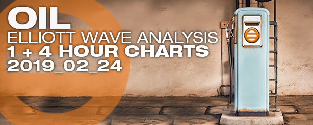 Elliott Wave Crude Oil Futures Options CFDs 24 February 2019