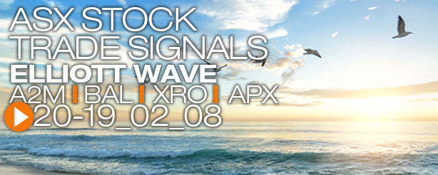 ASX Stock Trade Signals Elliott Wave A2M BAL XRO APX 8 February 2019