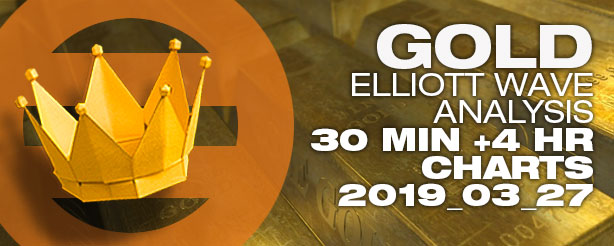 Gold Futures Elliott Wave Options CFDs 27 March 2019