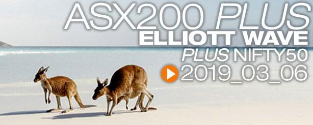 ASX200 Nifty 50 Technical Analysis Elliott Wave 6 March 2019