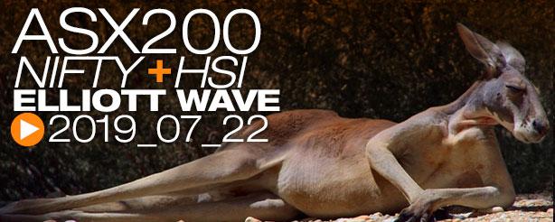 ASX200 NIFTY 50 HANG SENG Technical Analysis Elliott Wave 22 July 2019