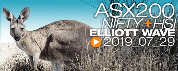 ASX200 NIFTY 50 HANG SENG Technical Analysis Elliott Wave 29 July 2019