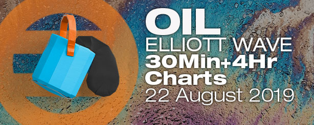 Elliott Wave Crude Oil Futures Options CFDs 22 August 2019