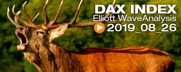 DAX 30 FTSE 100  Technical Analysis Elliott Wave 26 August 2019