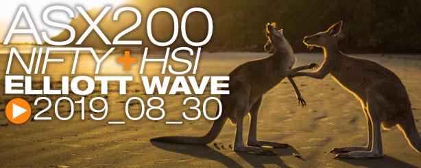 ASX200 NIFTY 50 HANG SENG Technical Analysis Elliott Wave 30 August 2019