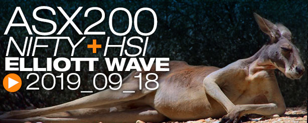 ASX200 NIFTY 50 HANG SENG Technical Analysis Elliott Wave 18 September 2019