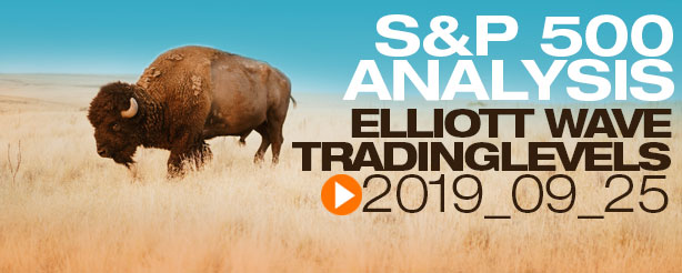 SP500 Elliott Wave 25 September 2019