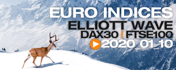 DAX 30 FTSE 100 Technical Analysis Elliott Wave 10 January 2020