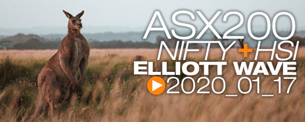 NIFTY 50 ASX200 HANG SENG Technical Analysis Elliott Wave 17 January 2020