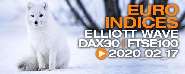 DAX 30 FTSE 100 Technical Analysis Elliott Wave 17 February 2020