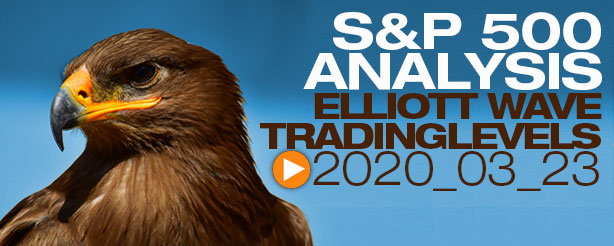 SP500 Elliott Wave 23 March 2020