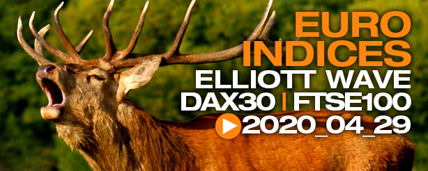 DAX 30 FTSE 100 Day Trading Elliott Wave 29 April 2020