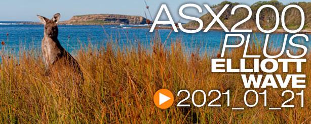 ASX 200 XJO AUDUSD Elliott Wave 21 Jan