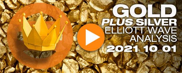 Gold Elliott Wave, Silver Elliott Wave, 1 October 2021