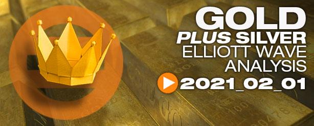 Gold Silver Technical Analysis Elliott Wave 1 February 2021