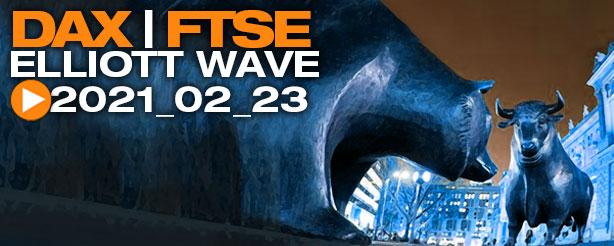 DAX 30, UK 100, Elliott Wave Technical Analysis 23 Feb 2021