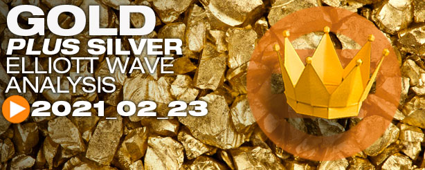 Gold & Silver Technical Analysis Elliott Wave 23 February 2021 - Trading Lounge