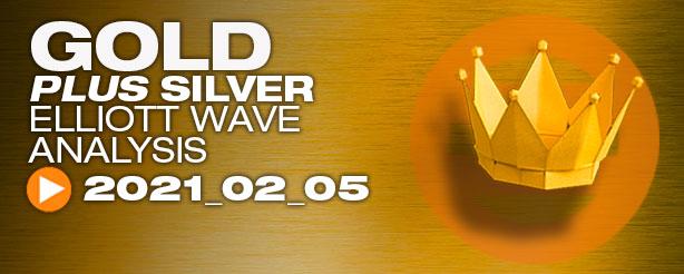 Gold Silver Technical Analysis Elliott Wave 5 February 2021