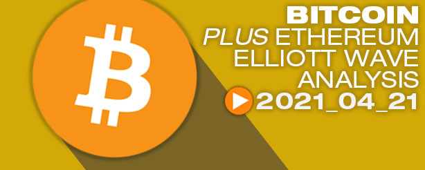 Bitcoin Elliott Wave, 21 April