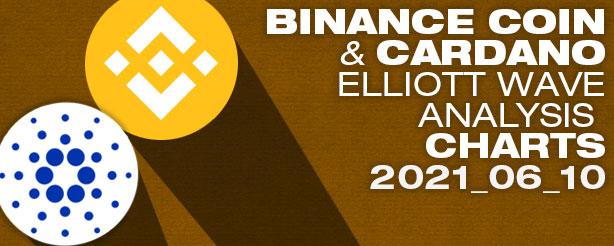 Binance Coin PLUS Cardano  Elliott Wave Analysis, 10 June