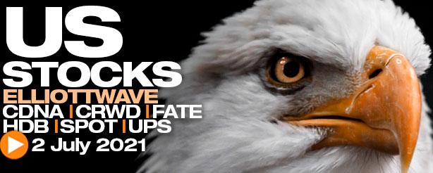 Weekly US Stock Review CDNA, CRWD, FATE, HDB, SPOT & UPS 2 July 2021
