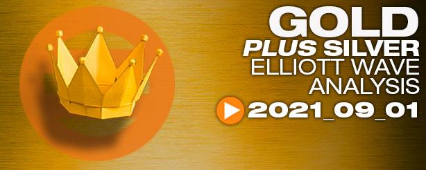 Gold Elliott Wave, Silver Elliott Wave 1 September 2021