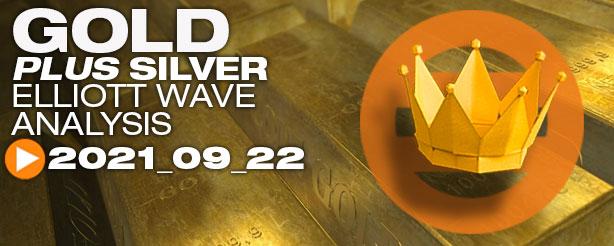 Gold Elliott Wave, Silver Elliott Wave, 22 September 2021
